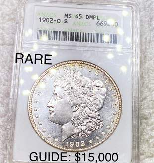 1902-O Morgan Silver Dollar ANACS - MS 65 DMPL