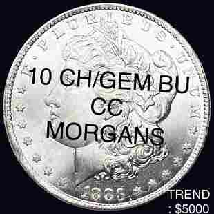 10 Carson City Morgan Silver Dollars CH/GEM BU