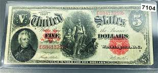 1907 US $5 Red Seal Bill UNCIRCULATED