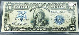 1800 US $5 Red Seal Bill UNCIRCULATED
