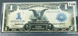 1800 $1 Blue Seal Silver Certificate UNCIRCULATED