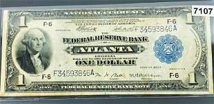 1918 US $1 Blue Seal Bill UNCIRCULATED
