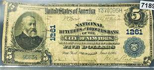 1902 $5 Blue Seal Bill LIGHTLY CIRCULATED