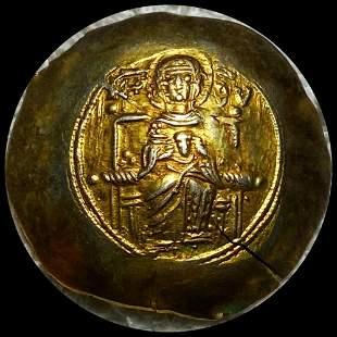 1185-1195 AD Byzantine Empire Gold Coin UNC