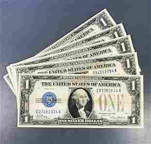 (5) 1926 $1 Blue Seal Bills UNCIRCULATED