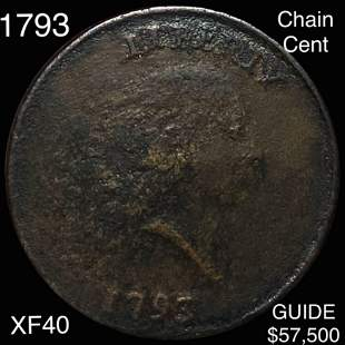 1793 Chain Cent LIGHTLY CIRCULATED