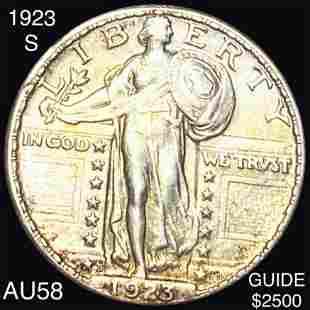 1923-S Standing Liberty Quarter CHOICE AU