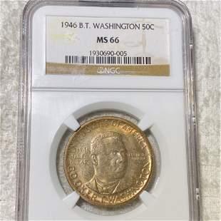 1946 Booker T. Half Dollar NGC - MS66