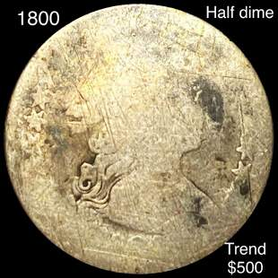 1800 Draped Bust Half Dime NICELY CIRCULATED