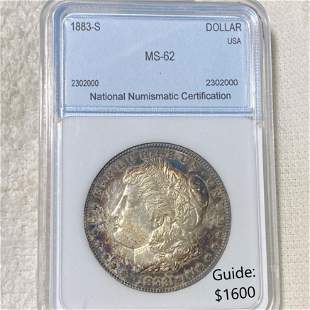 1883-S Morgan Silver Dollar NNC - MS62