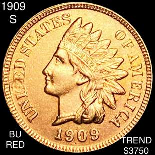 1909-S Indian Head Penny BU RED