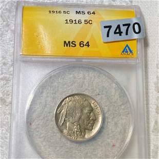 1916 Buffalo Head Nickel ANACS - MS64