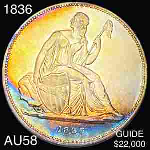 1836 Gobrecht Silver Dollar CHOICE AU