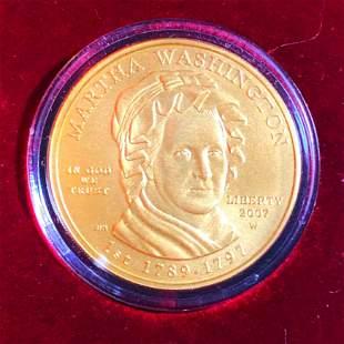 2007-W $10 Martha Washington Gold Coin 1/2Oz UNC