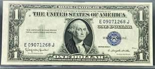 1935 $1 Blue Seal Bill UNCIRCULATED