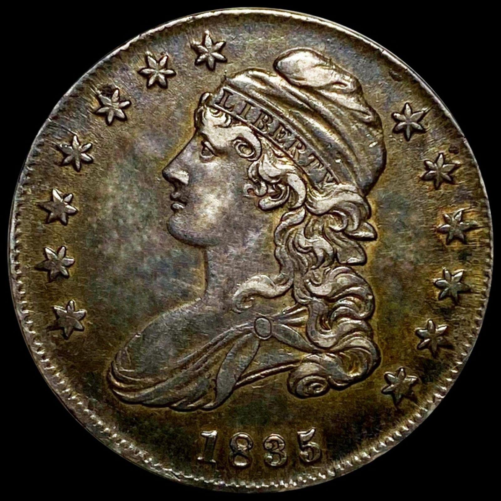 1836 Capped Bust Half Dollar XF+