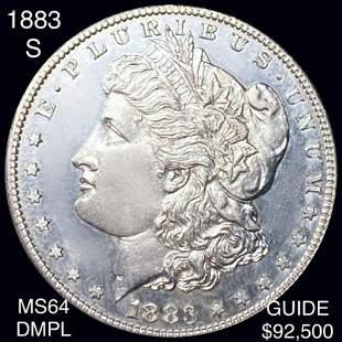1883-S Morgan Silver Dollar CHOICE BU DMPL
