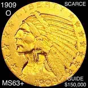 1909-O $5 Gold Half Eagle CHOICE BU