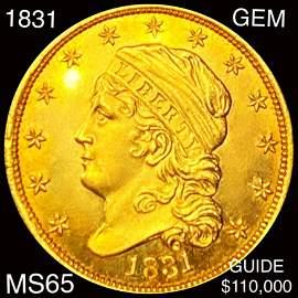 1831 $2.50 Gold Quarter Eagle GEM BU
