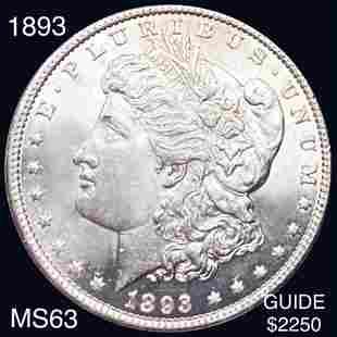 1893 Morgan Silver Dollar CHOICE BU