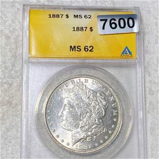 1887 Morgan Silver Dollar ANACS - MS62