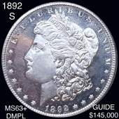 1892-S Morgan Silver Dollar CHOICE BU DMPL