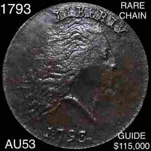 1793 Chain Cent CHOICE AU