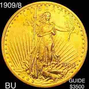 1909/8 $20 Gold Double Eagle BU