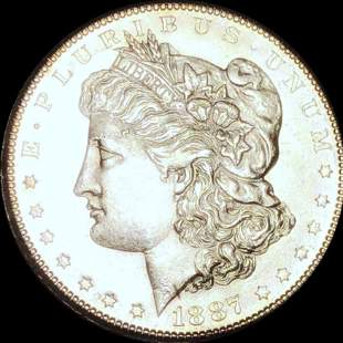 1887-S Morgan Silver Dollar CHOICE BU PL