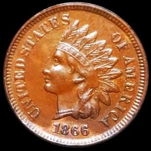 1866 Indian Head Penny UNCIRCULATED