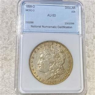 1899-O Morgan Silver Dollar NNC - AU50