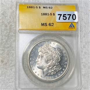 1881-S Morgan Silver Dollar ANACS - MS62