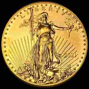 2021 $50 Gold American Eagle UNCIRCULATED 1Oz
