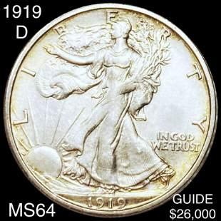 1919-D Walking Half Dollar CHOICE BU