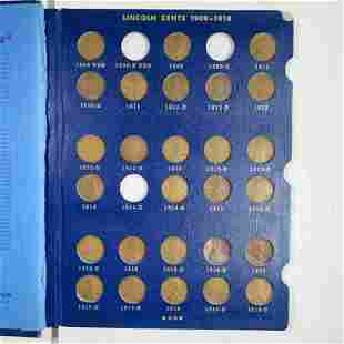 1909-1940 Lincoln Penny Book HIGH END 74 COINS