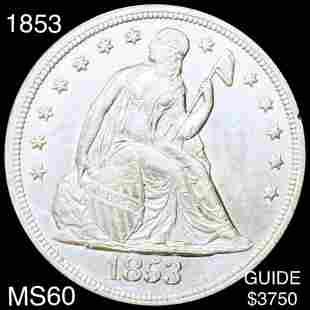 1853 Seated Liberty Dollar UNCIRCULATED