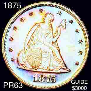 1875 Seated Twenty Cent Piece CHOICE PROOF