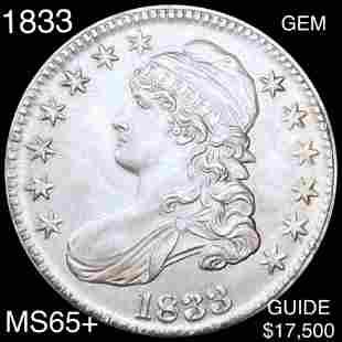 1833 Capped Bust Half Dollar GEM BU