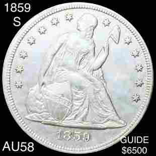 1859-S Seated Liberty Dollar CHOICE AU