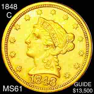 1848-C $2.50 Gold Quarter Eagle UNCIRCULATED