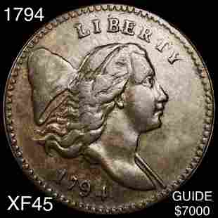 1794 Liberty Cap Large Cent LIGHTLY CIRCULATED