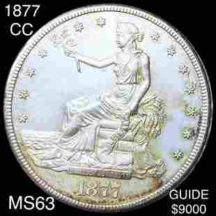 1877-CC Silver Trade Dollar CHOICE BU