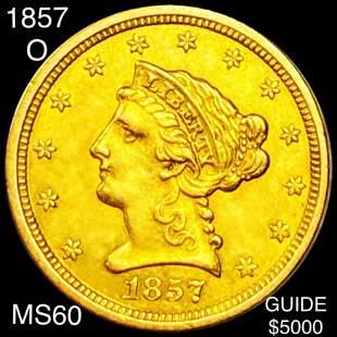 1857-O $2.50 Gold Quarter Eagle UNCIRCULATED
