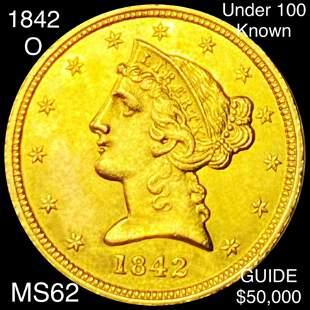1842-O $5 Gold Half Eagle UNCIRCULATED
