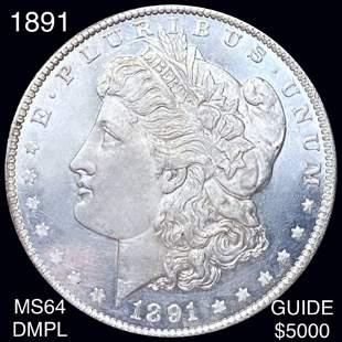 1891 Morgan Silver Dollar CHOICE BU DMPL