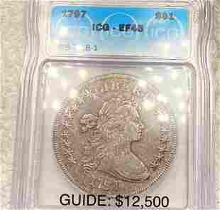 1797 Draped Bust Dollar ICG - EF45 BB-78, B-1