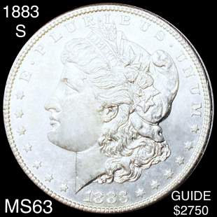 1883-S Morgan Silver Dollar CHOICE BU