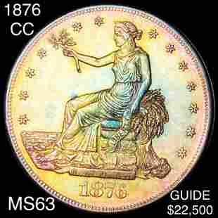1876-CC Silver Trade Dollar CHOICE BU