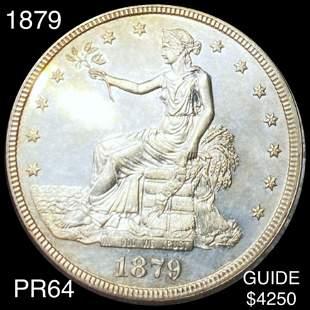 1879 Silver Trade Dollar CHOICE PROOF