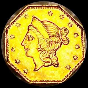 1853 Cal. Octagonal Gold Dollar UNCIRCULATED